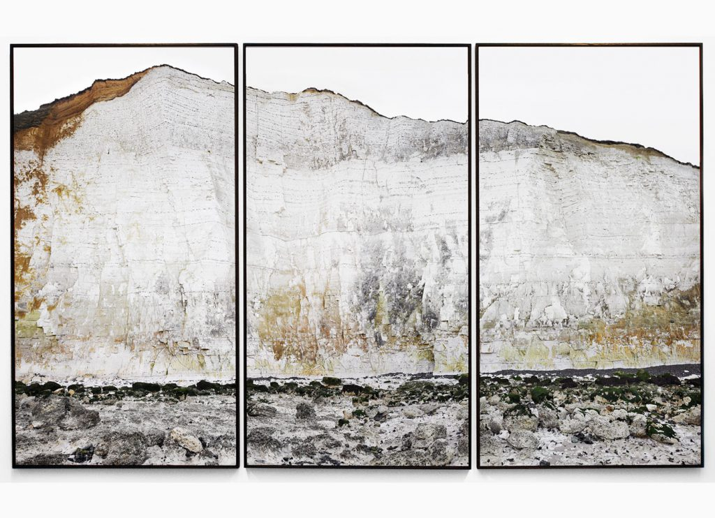 Falaise nº8 – Edge of silence, 2013 – Photograph – Pigment print on cotton paper, 172 x 300 cm, Triptych