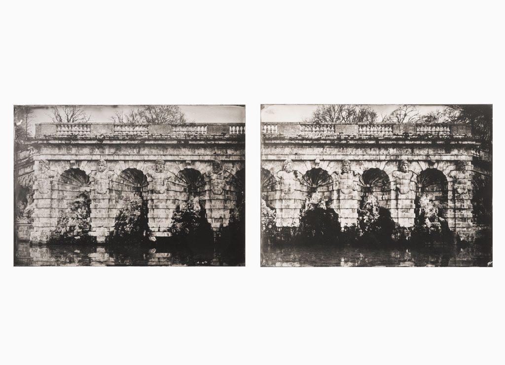 Les Grottes de 8 termes Mythologique – Château de Vaux-le-Vicomte, 2014 – Wet plate collodion as pigment print on cotton paper, 130 x 45 cm