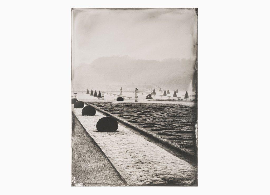 Le Jardin dans la Brume Matinale – Château de Vaux-le-Vicomte, 2014 – Wet plate collodion as pigment print on cotton paper, 60 x 45 cm
