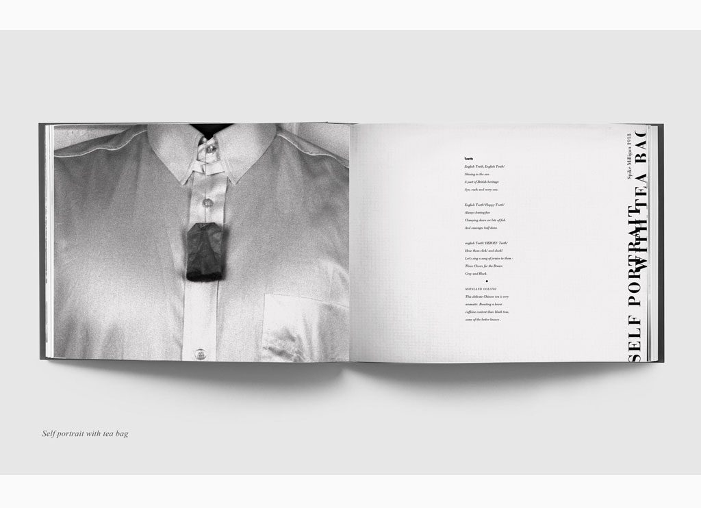Selfportrait with teabag – Teabags & Poetry, 1993 – New York, limited edition book – Duotone print, 20 x 31 cm