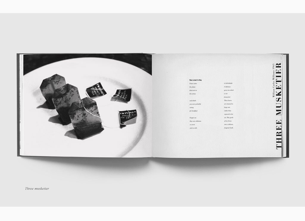 Three Musketier – Teabags & Poetry, 1993 – New York, limited edition book – Duotone print, 20 x 31 cm