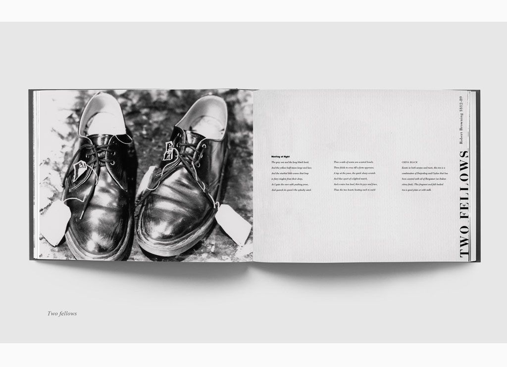 Two fellows – Teabags & Poetry, 1993 – New York, limited edition book – Duotone print, 20 x 31 cm