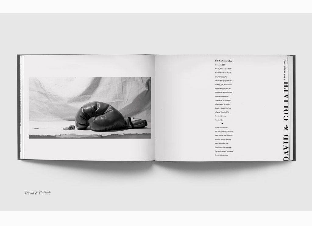 David & Golith – Teabags & Poetry, 1993 – New York, limited edition book – Duotone print, 20 x 31 cm