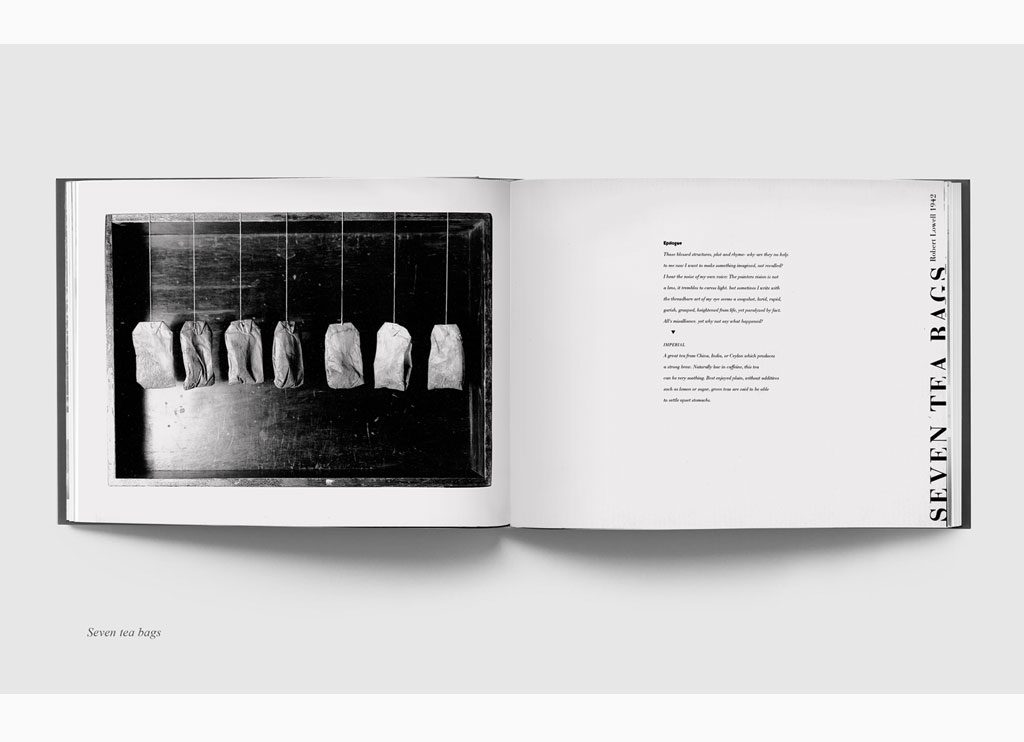 Seven teabags – Teabags & Poetry, 1993 – New York, limited edition book – Duotone print, 20 x 31 cm